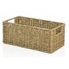 allen + roth 7.15-in W x 5.5-in H x 14.25-in D Natural Sea Grass Basket