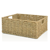 allen + roth 10.7-in W x 5.5-in H x 14.15-in D Natural Sea Grass Basket