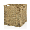 allen + roth 10.7-in W x 11-in H x 10.7-in D Natural Sea Grass Milk Crate