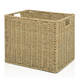 allen + roth 10.7-in W x 11-in H x 14.25-in D Natural Sea Grass Milk Crate