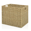 allen + roth 10.7-in W x 11-in H Natural Sea Grass Milk Crate