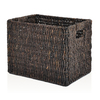 allen + roth 10.7-in W x 11-in H Stained Maize Milk Crate