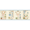 allen + roth 6.83-in Blue Prepasted Wallpaper Border