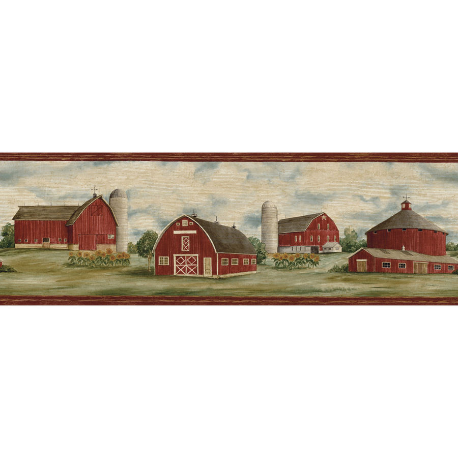shop allen roth 6 7 8 purple barn prepasted wallpaper