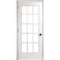 Exterior single french door outdoor for Single swing patio door