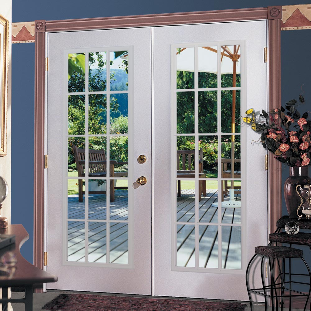 shop reliabilt 6 39 reliabilt french patio door steel 15 lite