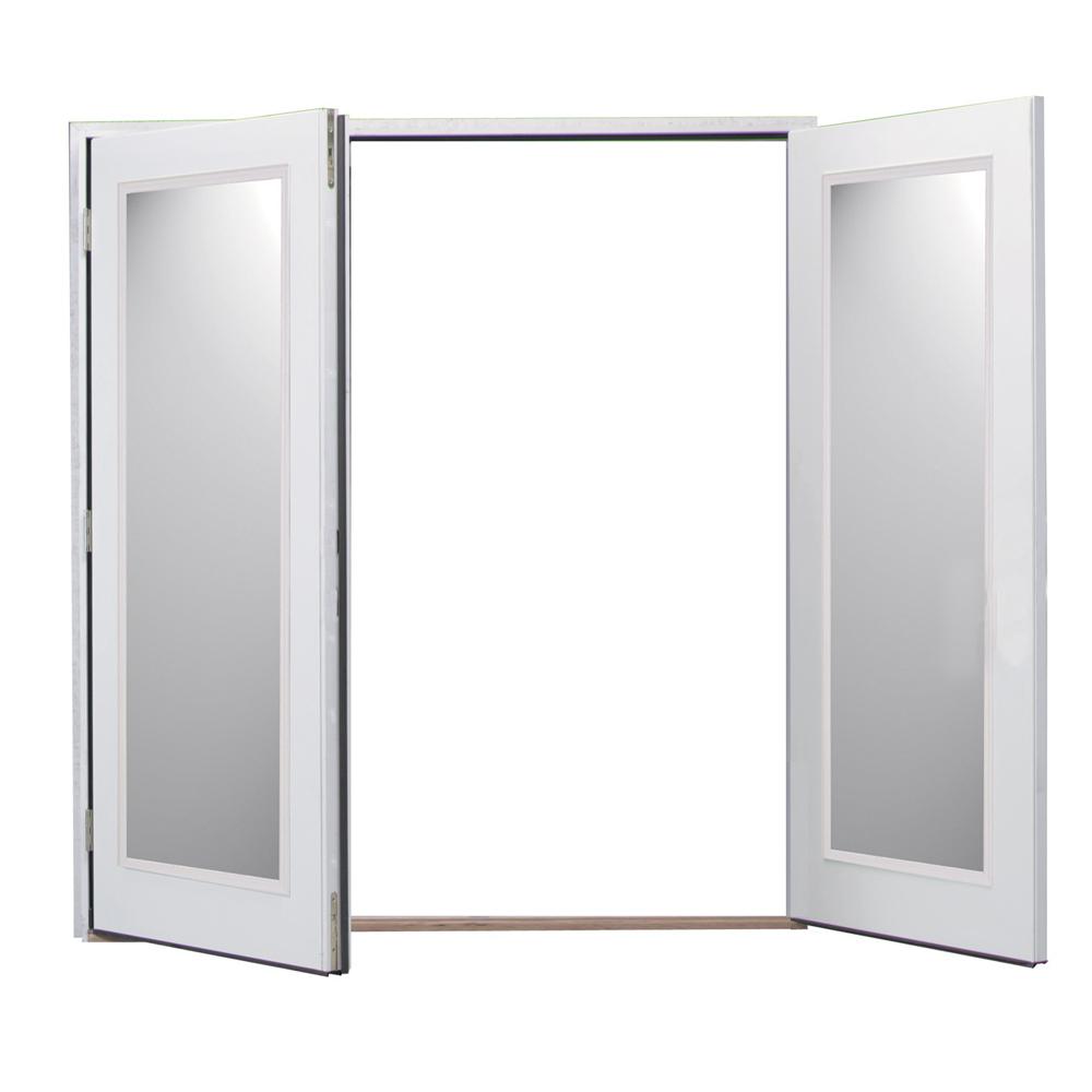 Shop reliabilt 6 39 reliabilt french patio door vinyl clad for Screens for french doors that swing in