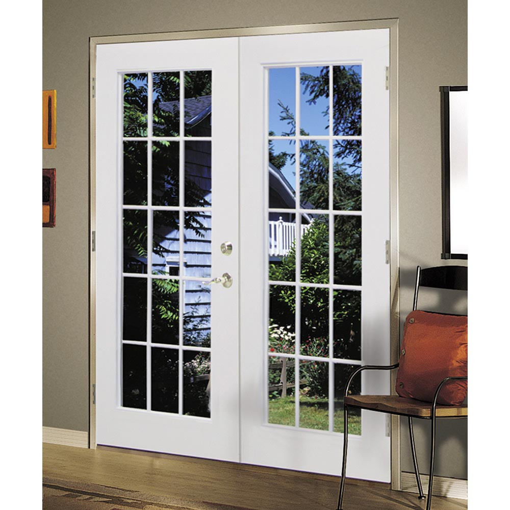 Shop reliabilt 6 39 reliabilt french patio door steel 15 for French doors no glass
