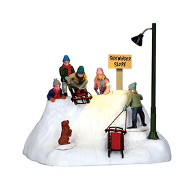 Carole Towne Christmas Resin Lighted Animatronic Ready to Launch Christmas Collectible