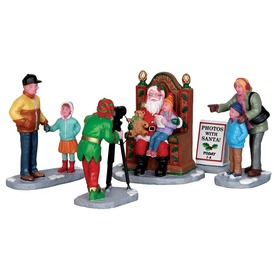 Carole Towne Christmas 5-Pack Resin Photos with Santa