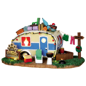 Carole towne christmas resin lighted battery operated 4 5 volt lake
