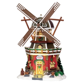 Carole Towne Christmas Porcelain Lighted Welborns Windmill