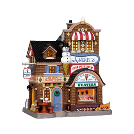 Carole Towne Christmas Porcelain Lighted Angies Ice Cream Shop