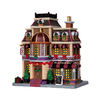 Carole Towne Christmas Porcelain Lighted Dally Hotel