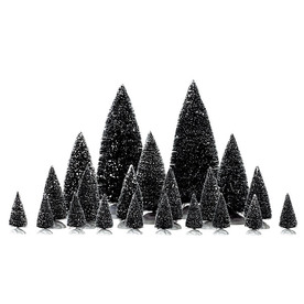 Carole Towne Christmas 21-Piece Plastic Assorted Pine Trees