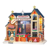 Carole Towne Christmas Porcelain Lighted Musical Animatronic Michelle's Cookie Factory Christmas Collectible