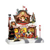Carole Towne 1-Piece Resin Lighted Musical Animatronic Santa's Workshop Christmas Collectible