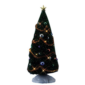Carole Towne Christmas Plastic Lighted Decorated Battery Operated 4.5-Volt Yule Tree