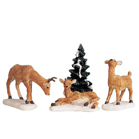 Carole Towne Christmas 4-Pack Resin Dad and Fawns