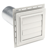 Durabuilt 4-in Dia Plastic R2 Exhaust Dryer Vent Hood