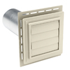 Durabuilt Louvered Exhaust Vent Cream