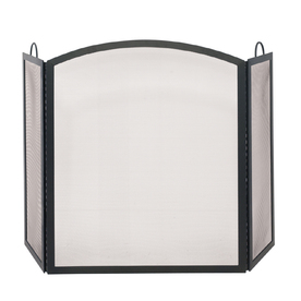 uniflame folding fireplace screen with doors from lowes