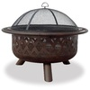 Blue Rhino 33.5-in W Bronze Steel Wood-Burning Fire Pit