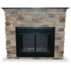 UniFlame 45.3-in W Natural Stone- Tan Electric Fireplace with Remote Control