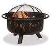 Brown Steel Outdoor Wood-Burning Fireplace