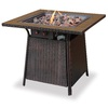 UniFlame 30000 BTU 32-in Bronze Steel Liquid Propane Fire Pit