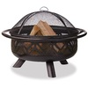 UniFlame Bradford 36-in W Bronze Steel Wood-Burning Fire Pit