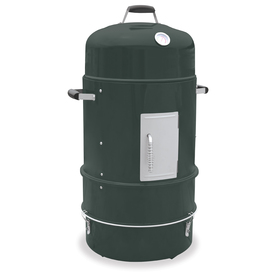 Master Forge 36-in H x 20.25-in W 376-sq in Baked Enamel Green Charcoal Vertical Smoker