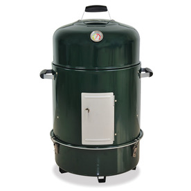 Master Forge Smoker 29-in H x 20.25-in W 376 Sq.-in Green Charcoal Vertical Smoker