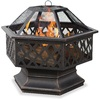 Blue Rhino 24-in W Black Steel Wood-Burning Fire Pit