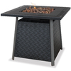 Blue Rhino 32.1-in W 30,000-BTU Black Steel Liquid Propane Fire Table