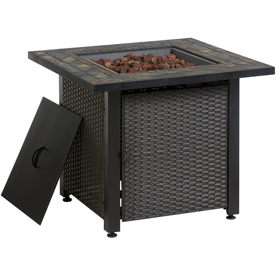 Metal fire pit or build your own with brick for Lowes fire pit