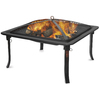 Blue Rhino 23.5-in W Black Steel Wood-Burning Fire Pit