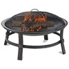 Blue Rhino 29.3-in W Black Steel Wood-Burning Fire Pit