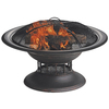 Blue Rhino 32-in W Black Steel Wood-Burning Fire Pit