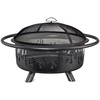 Blue Rhino 30.7-in W Black Steel Wood-Burning Fire Pit
