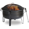 Endless Summer 34-in W Oil Rubbed Bronze Steel Wood-Burning Fire Pit