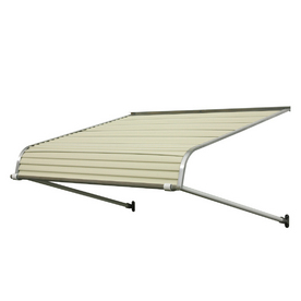 NuImage Awnings 7-ft Wide x 3-ft 6-in Projection Almond Open Slope Door Awning