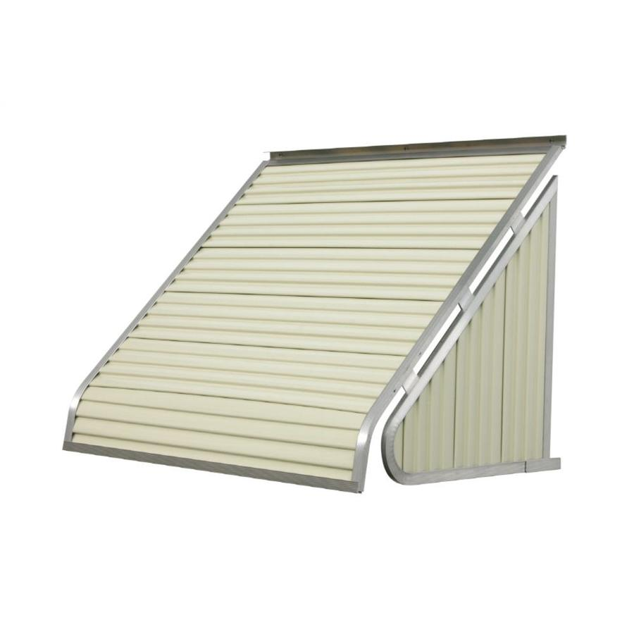 Aluminum Window Awnings Lowe S : Shop nuimage awnings in wide projection almond