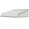 NuImage Awnings 84-in Wide x 42-in Projection White Solid Slope Door Awning