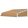 NuImage Awnings 96-in Wide x 42-in Projection Solid Slope Door Awning