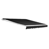 NuImage Awnings 144-in Wide x 96-in Projection Black Solid Open Slope Patio Retractable Manual Awning