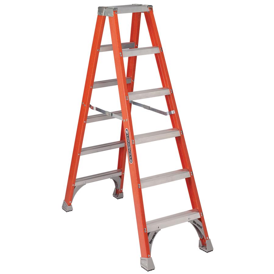 Shop Louisville 6-ft Fiberglass 300-lb Type IA Step Ladder ...