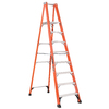Louisville 10-ft Fiberglass 375-lb Type IAA Platform Ladder