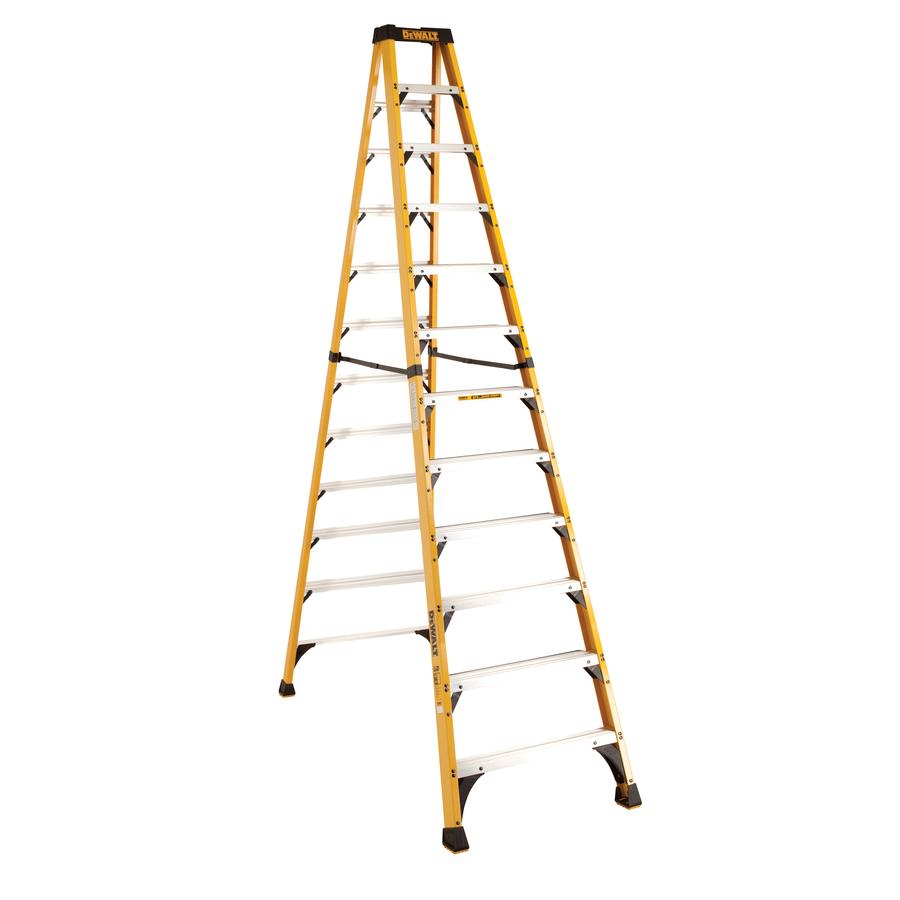 shop dewalt 12 ft fiberglass 375 lb type iaa step ladder at. Black Bedroom Furniture Sets. Home Design Ideas