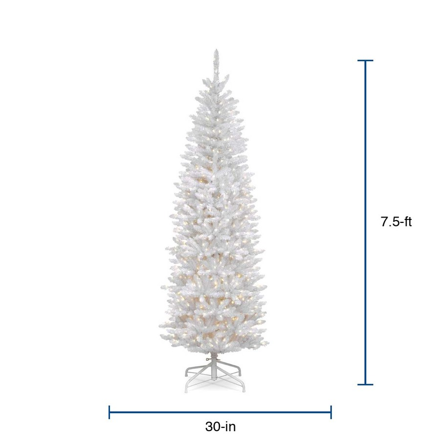 National Tree 7 Foot Pre-lit Artificial Christmas Tree White Lights and Stand